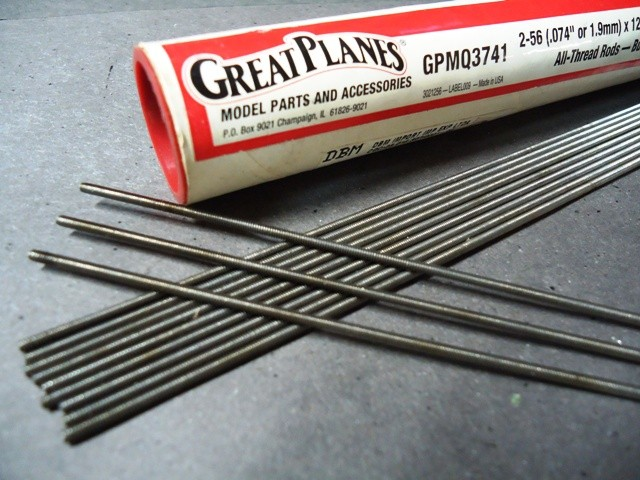 "All Thread Rod 2-56 x 12"" (12), Great Planes,Cod. GPMQ3741"