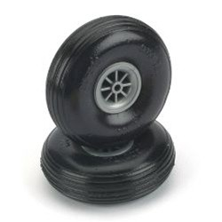 "3-1/2"" Dia. Treaded Lightweight Wheel (2) Cod.  DUBR350TL"