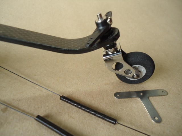 Carbon Fiber Tail wheel set 80cc~100cc Cod. 21929