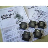 Reed Valve & Insulator for RCGF 15cc Engine Cod. 20456