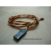 Twisted 100cm Servo Lead Extension (JR) 22AWG  Cod. 32756